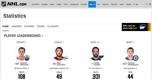 NHL中国赛赠票来袭:与SAP一起解锁百年数据+冰球激情!