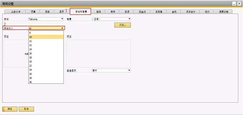 SAP系统字体大小